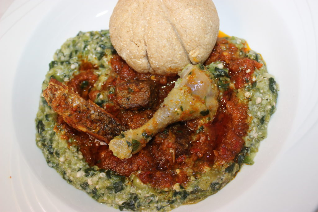 okra soup and eba