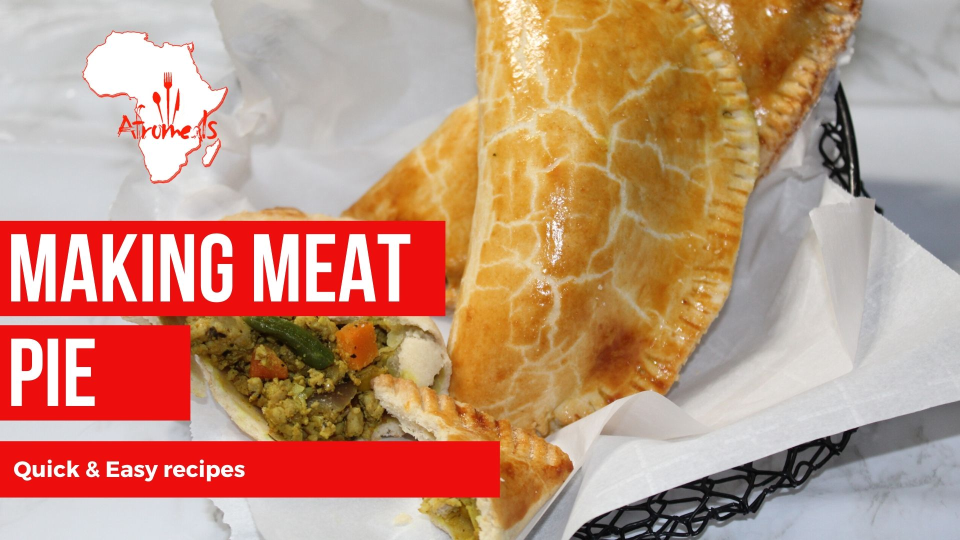 Quick and Easy way to make Meat Pie with Afromeals Fried Rice Spice!!
